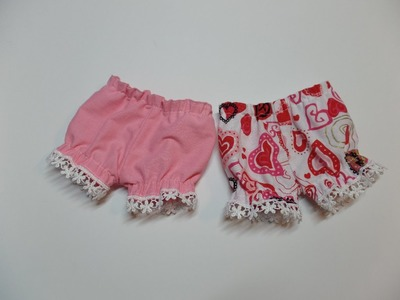 How to Make Short Doll Knickers Part 1