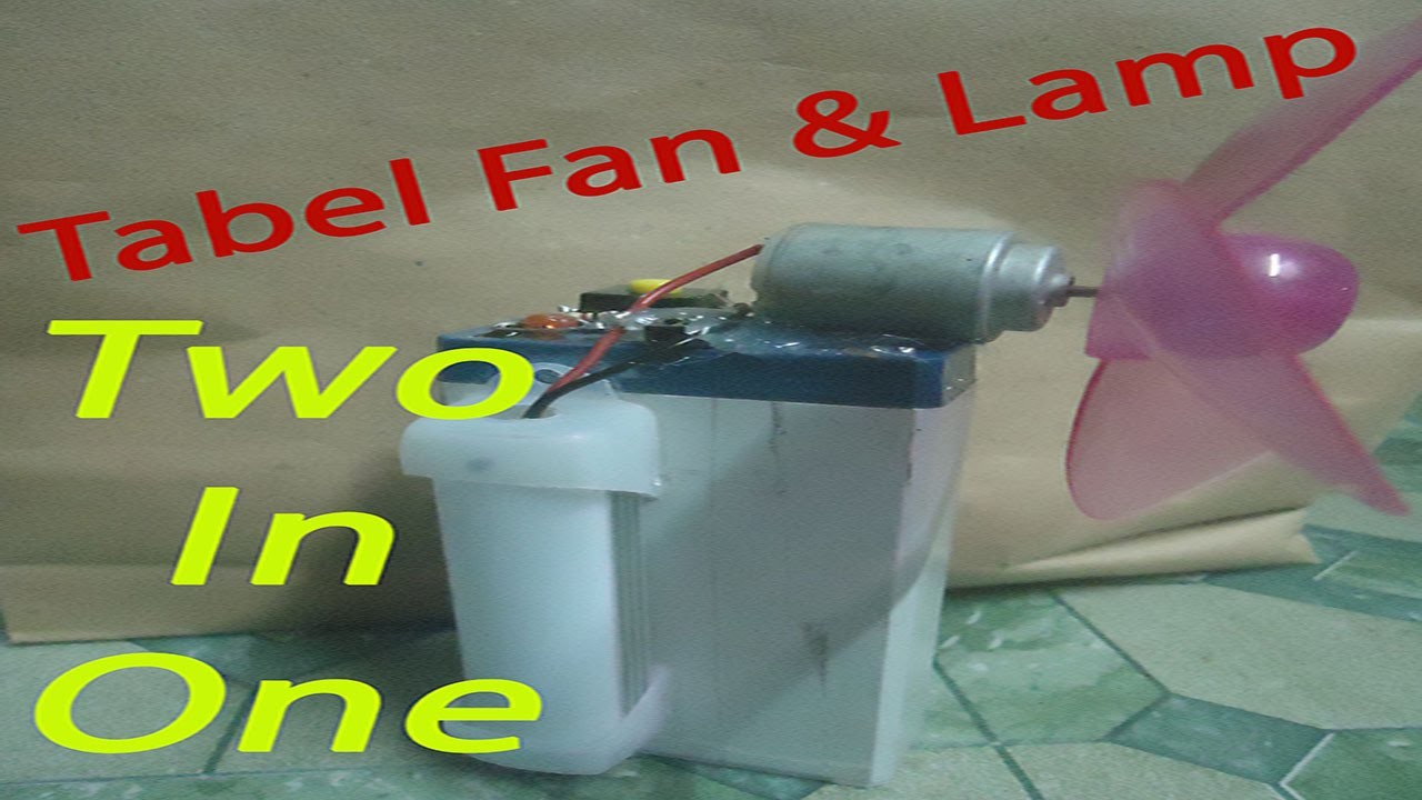 How to Make Table Fan | How to Make Table lamp | How to Make Table Fan & Lamp Two in One Very Easy!