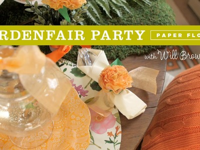 How to make tissue paper flower napkin rings for a Fairy Garden party