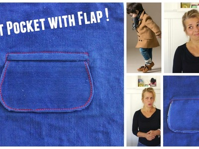 How to sew a Welt Pocket with a Flap - Cheats Pockets :)