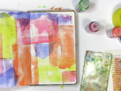 How to use a texture tool on gelli plate to make silly art journal page