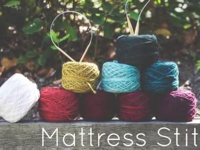 Knitting Tutorial for beginners: Mattress Stitch