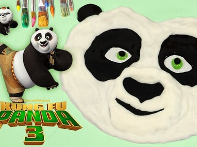 Kung Fu Panda 3 Puffy Paint - DIY SpeedPaint Fast Drawing Plush Surprise Egg Toy Brinquedos Juguetes