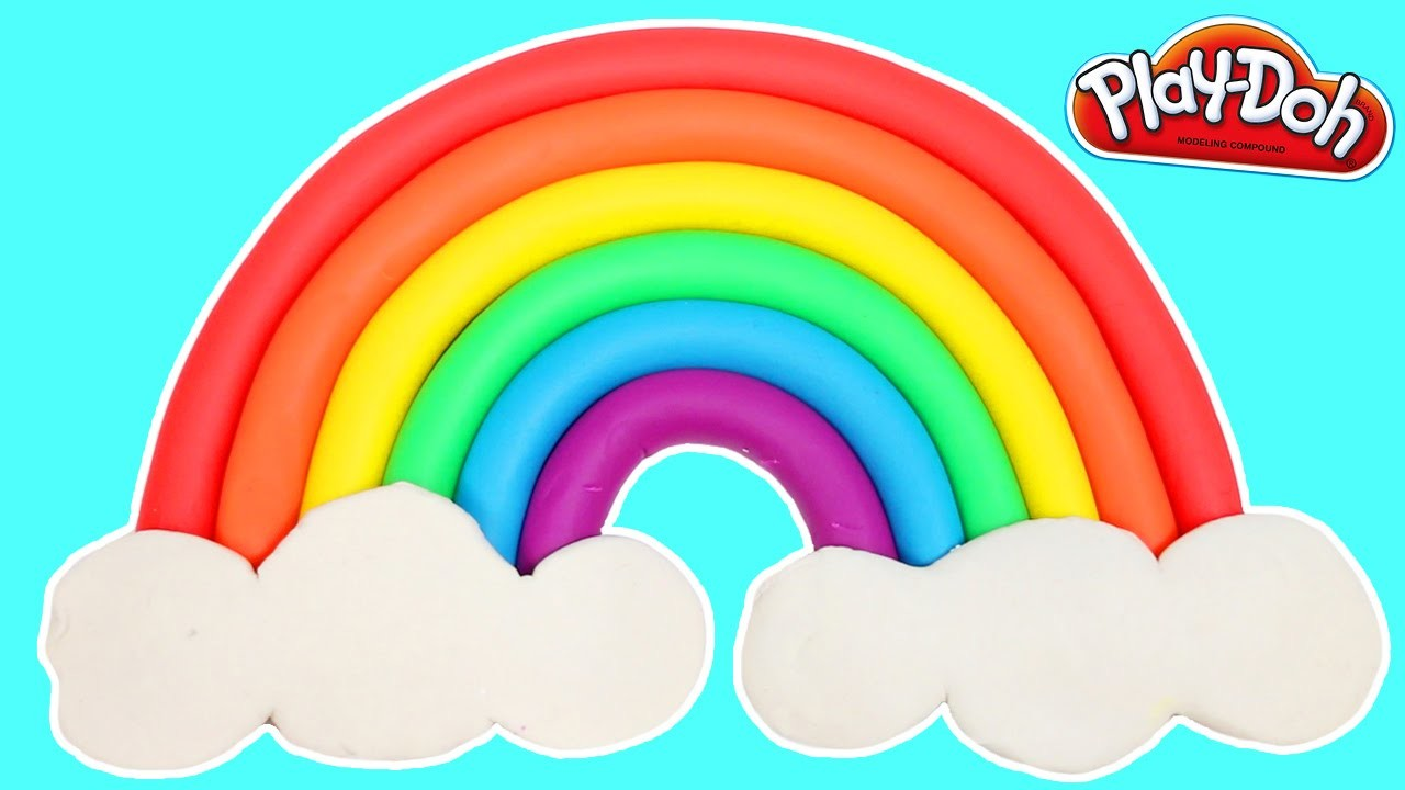 Learn Colors with a Play Doh Rainbow   How To Make Easy!