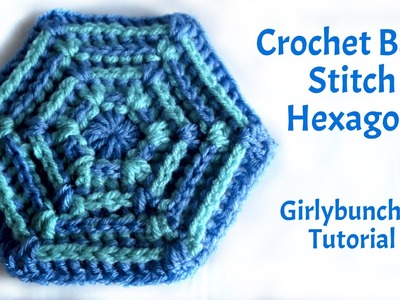 Learn to Crochet with Girlybunches - Back Stitch Hexagon - Tutorial