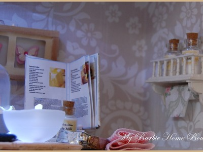Miniatures , How to make a shelve for your doll Diorama.