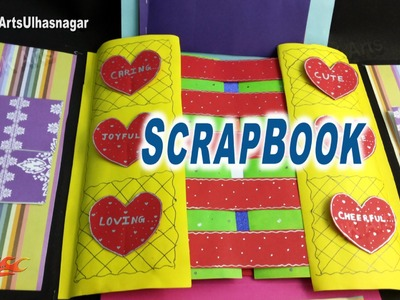 Multi-fold scrapbook Tutorial | How to make Love Scrapbook | JK Arts 907
