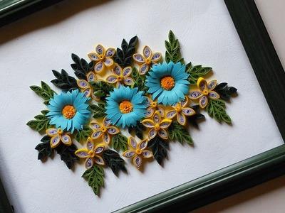 Paper Quilling Designs   Wall Frames Flowers DIY   HandiWorks #48