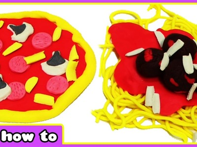 Play Doh Pizza and Pasta | Play Doh Toy Food | Easy DIY Play Dough Creations by HooplaKidz How To