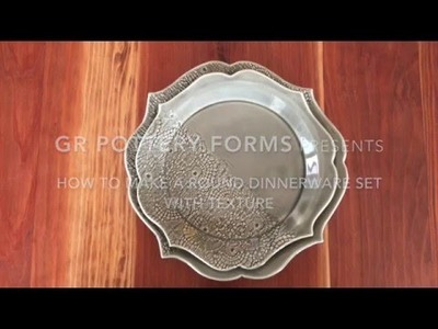 Pottery Tutorial : How to Make a Dinnerware Set with Texture