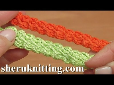 Puff Stitch Crochet Cord Tutorial 102
