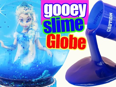 SLIMY FROZEN ELSA GOOEY SLIME GLITTER GLOBE Make Your Own How to Glitzi DIY MagiClip Doll