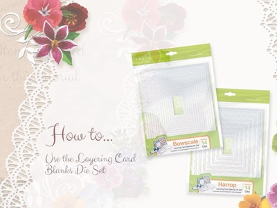 Tonic Tutorial - How to use the Card Blank Layering Dies Pt.1 - Jodie Johnson