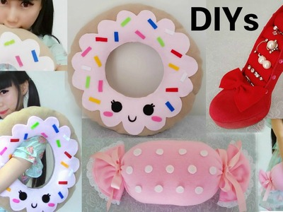 3 DIY Room Decors&Organizer: DIY Shoe Jewelry Holder+DIY Donut Pillow+ DIY Candy Pillow