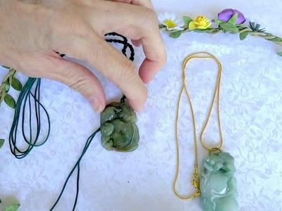 Adjustable Sliding Knotted Cords for Jade Pendants - How to Adjust