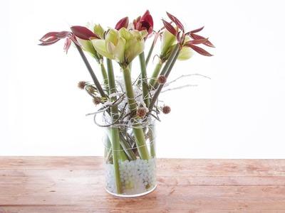 Amaryllis Vase Design | Flower Factor How To Make | Flower Arrangement