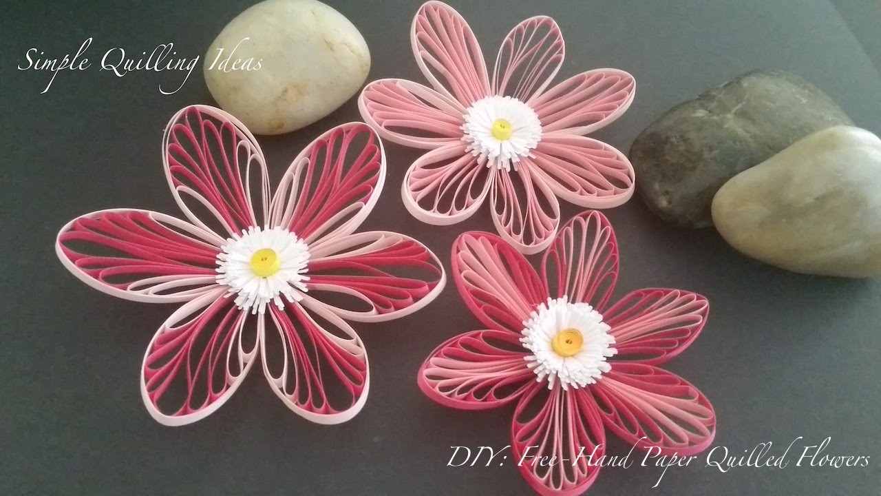 Art and Craft: DIY Free-hand Quilled Flowers