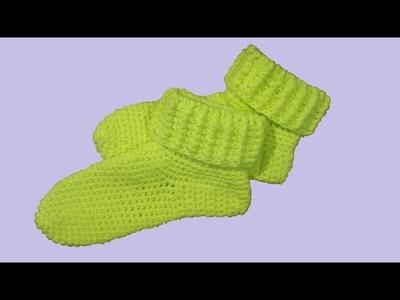 Calze all'uncinetto slippers velocissime !!! -  crochet socks - calcetines en crochet