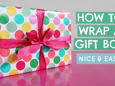 CAN YOU WRAP? How To Wrap A Gift Box   How To Tie A Ribbon   Mother's Day Gift   Jtru