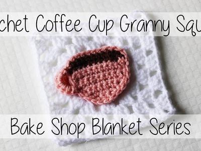 Crochet Coffee Cup Granny Square   Bake Shop Blanket Series   Sewrella