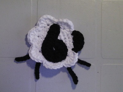 CROCHET SHEEP APPLIQUE - COUNTING SHEEP SHELL STITCH BABY BLANKET