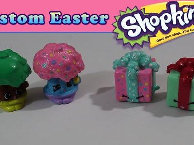 Custom Easter Shopkins - Season 4 Tiny Tree & Miss Pressy - DIY Pastel Crafts