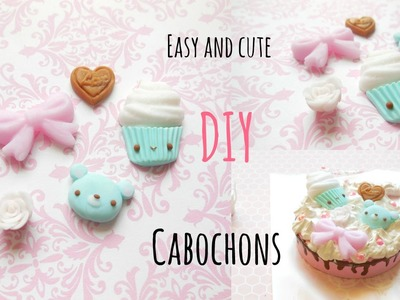 CUTE and EASY DIY Handmade Cabochons - Beginner Kawaii Poymer Clay Tutorial
