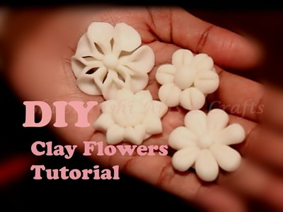 DIY : Clay flowers for beginners - Tutorial -1   first 4 easy Clay flowers