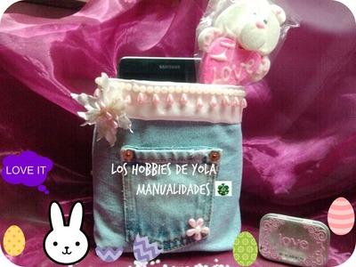 DIY Costalito  mil usos . Los hobbies de Yola. Recicled  mini bags ( easter idea )