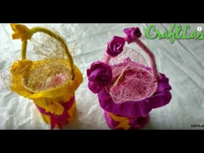 DIY |Cute Gift Baskets Making Idea with Disposable Glass
