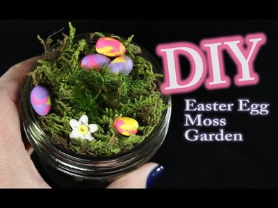 DIY Easter Egg Moss Garden or Terrarium