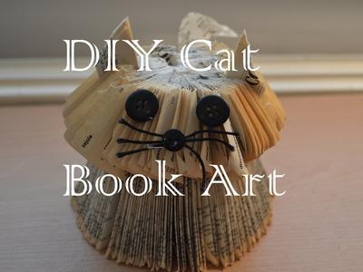 DIY Easy Cat Book Art
