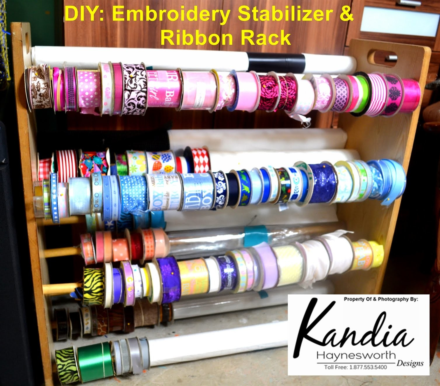 DIY: Embroidery Stabilizer & Ribbon Storage [Upcycle Tutorial]