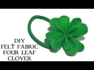 DIY felt fabric four leaf clover | St. Patrick's Day