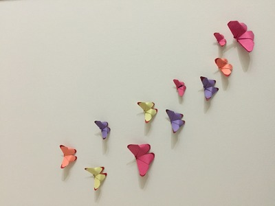   DIY   How to Make Wall Butterflies from Paper