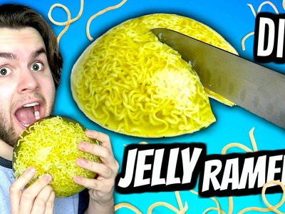 DIY Jelly Ramen! | How To Make A Giant Gummy Jello Ramen Noodle Soup Tutorial!