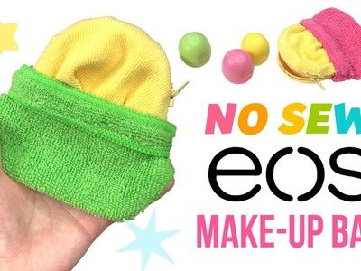 DIY No Sew EOS Makeup Bag!! Collab with Kimspired DIY!