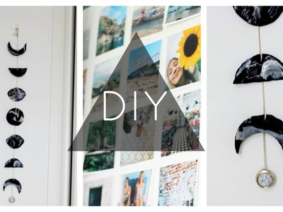 DIY Phases of the Moon Marble Wall Hanging