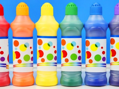 DIY Rainbow Paint Dots Kids How To Dots Paint Learn Colors Fun Toy