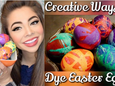 DIY   The COOLEST Way to Dye Easter Eggs   Mikayla Snow