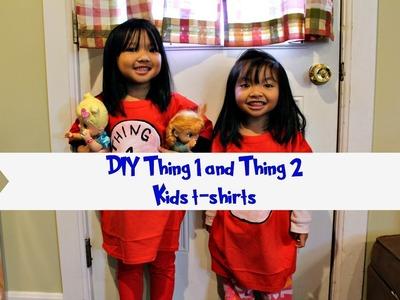 DIY Thing 1 and Thing 2 Kids T Shirts
