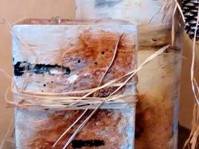 DIY.Tutorial Faux Birch Painted Vase Technique Home Decor
