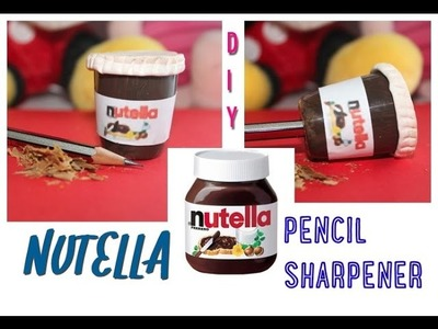 Diy tutorial: NUTELLA pencil sharpener recycling a cap of hair mousse!