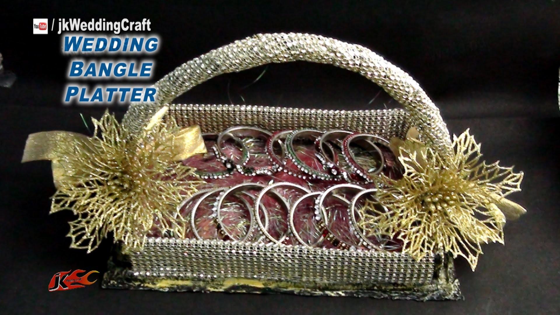 DIY  Wedding Gift Basket for jewelry, bangles  | How to make | JK Wedding Craft 073