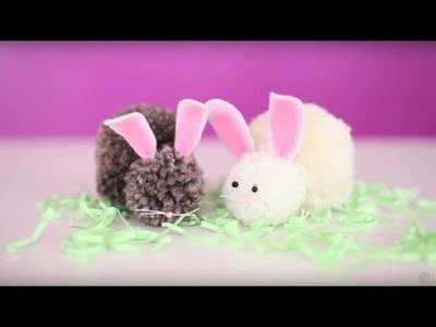 Easter Craft: DIY Bunny Pom Pom