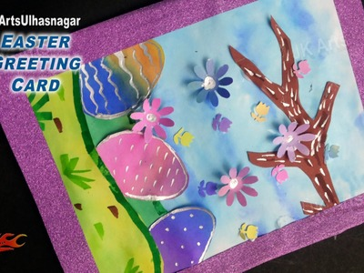 Easter Egg Greeting Card | How to make | JK Arts 901
