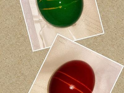 Easter eggs ideas DIY decorations rubber band craft tutorial. URADI SAM