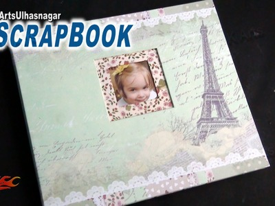 Easy Scrap Book Kit and How to make Scrap book | Unboxing | JK Arts 908