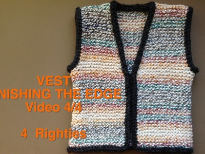 HOW 2 FINISH A VEST - Crochet Together Plus i-Cord Edge (4 Righties)