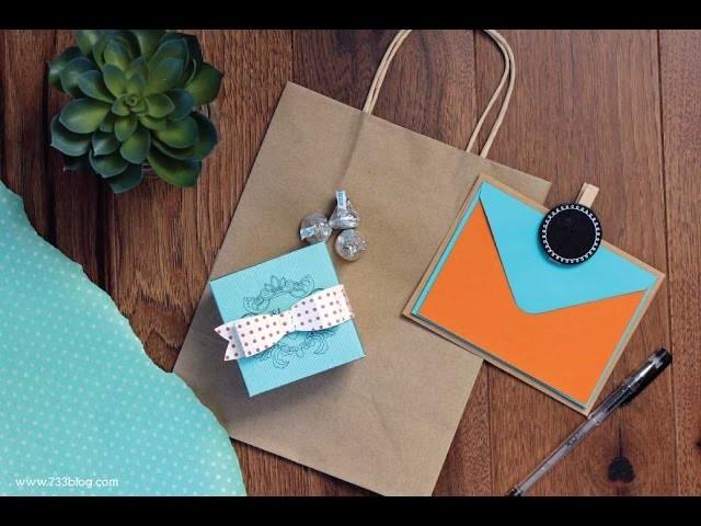 How to assemble a paper box cut with Cricut Explore